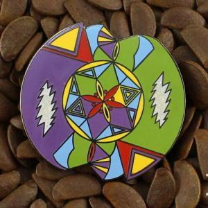 31c3e817568 Grateful Dead Pins Mandala Art Pin Lightning Bolt Flower