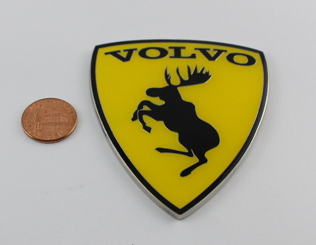 Volvo Police Car Usa >> VOLVO Metal Car Emblem Copper Sticker Prancing Moose 3 inch A - Affordable limited pins,limited ...