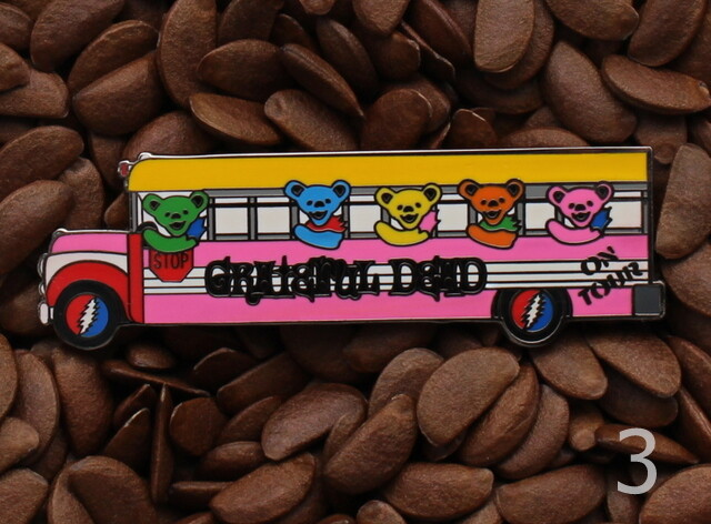 Grateful Dead Pins School Bus Pin Bear On Tour