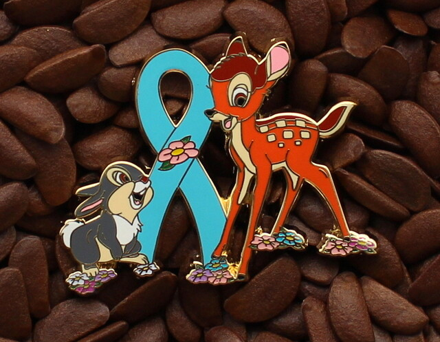 Blue Ribbon Pins Bambi Thumper Flower Pin